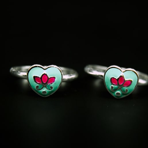 925 Silver Vivid Lotus Toe Rings