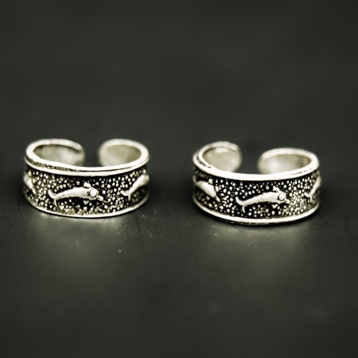 925 Silver Ocean Toe Rings