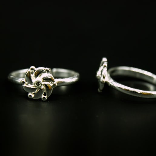 925 Silver Luxor Toe Rings