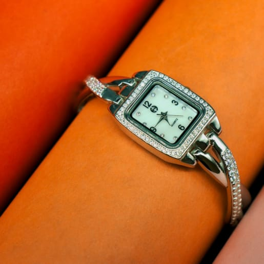 925 Silver Zircon Watch
