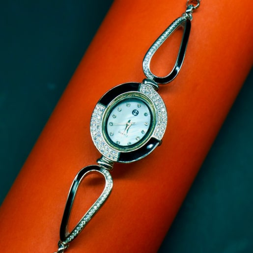 925 Silver The Zircon Timepiece