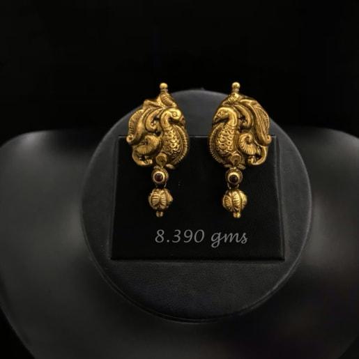 Peacock Antique Nakash Earrings