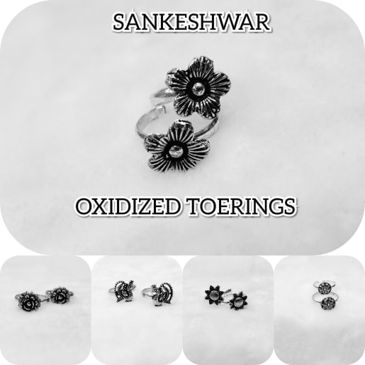 Silver Oxidized Toerings