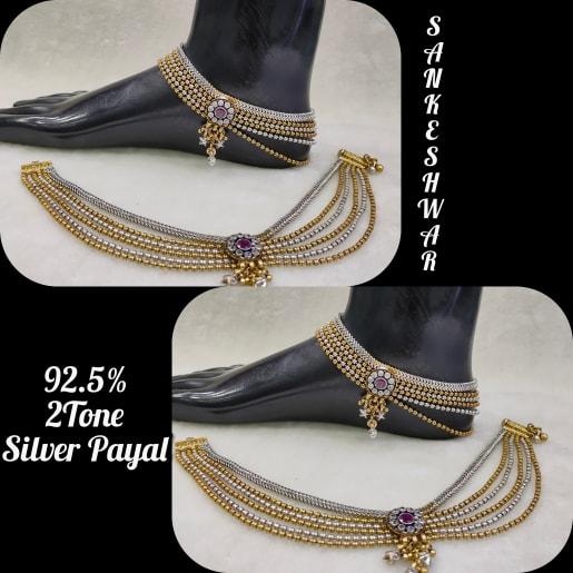 2tone Silver Payal