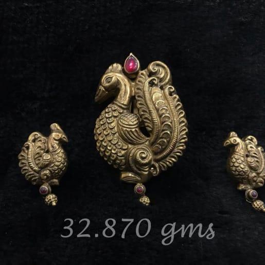 Peacock Stone Earrings