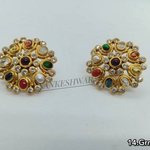 Silver Gold Plated Earings