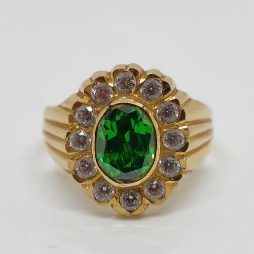 Chaitanya Green Stone Ring