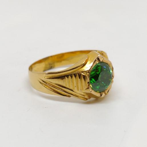 Chakradev Green Stone Ring