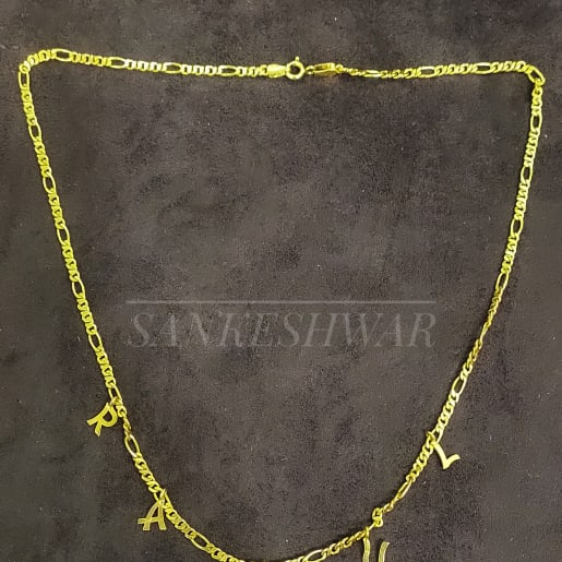 925customised Silver Gold-plated Neck Chain