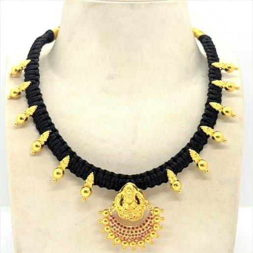 Lakshmi Cz Black Necklace