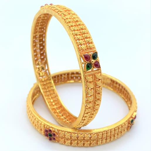 Temple Gold Bangles
