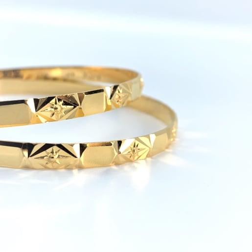 Gold Nice Plain Bangles