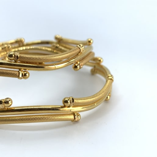 Gold Waves Bangles