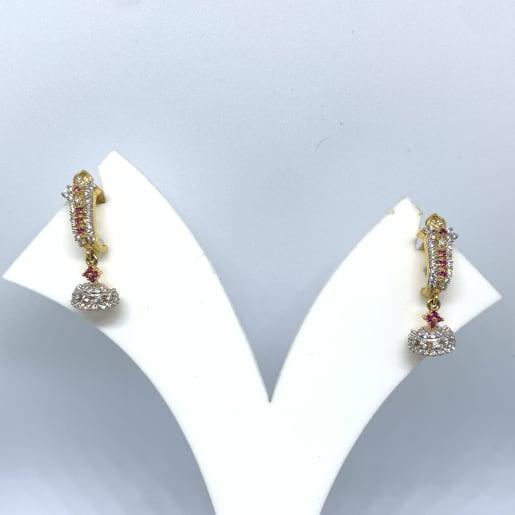 Colorstone Cz J Bali Earrings