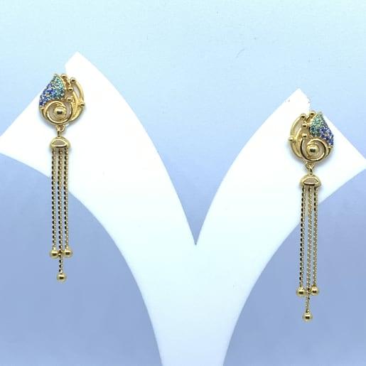 Gold Hanging Drop Earrings