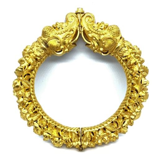 Antique Elephant Gold Kada