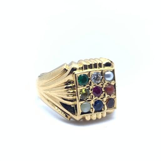 Navratna Gold Ring