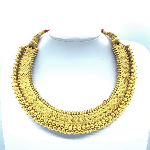 Gold Carving Necklace