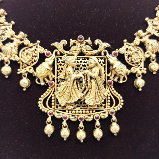 Antique Bride And Groom Necklace