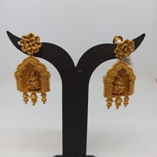 Lakshmi Temple Earrings For Her