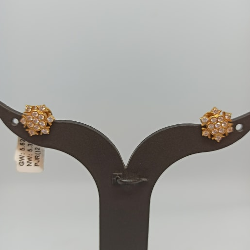 Cz Studded Studs For Her