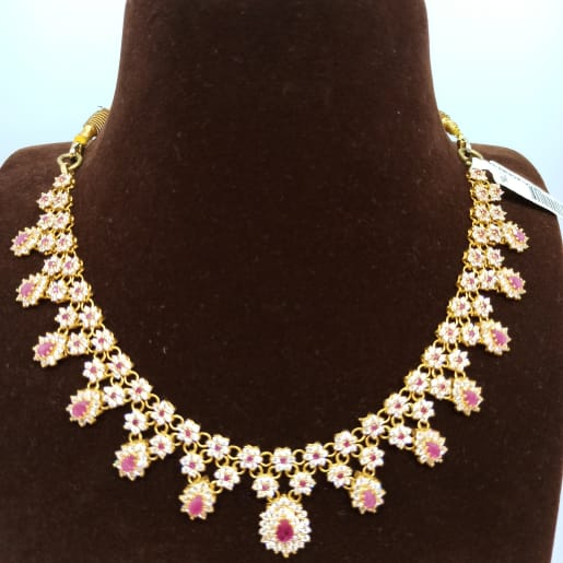 Beautiful Ruby Studded Necklace