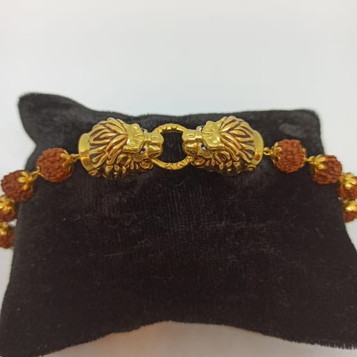 Lion Face Rudraksh Bracelate