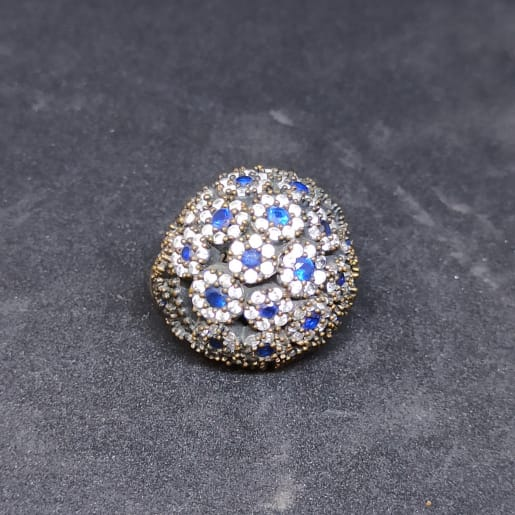 White And Blue Stone Ring