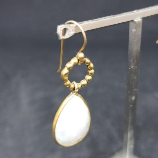 White Pearl Earring