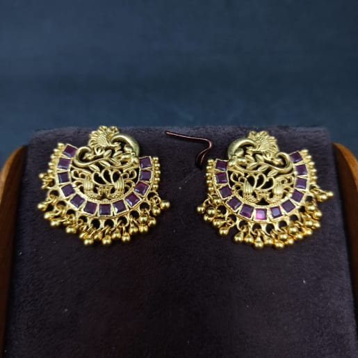 Peacock Chaandbali Earrings