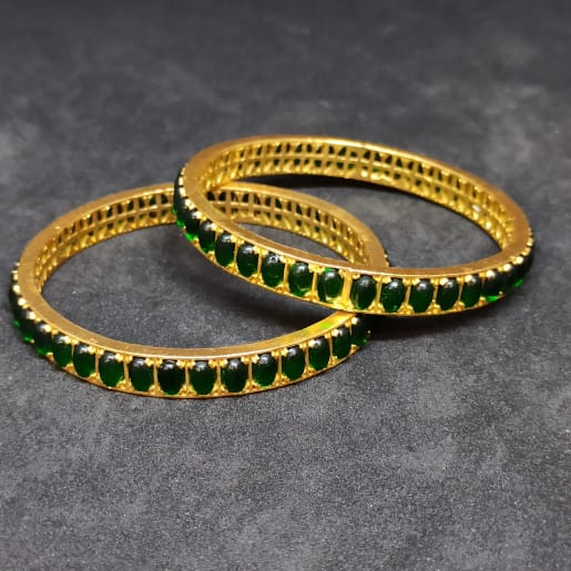 Green Stone Bangle