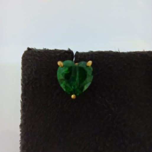 Green Heart Cz Stud