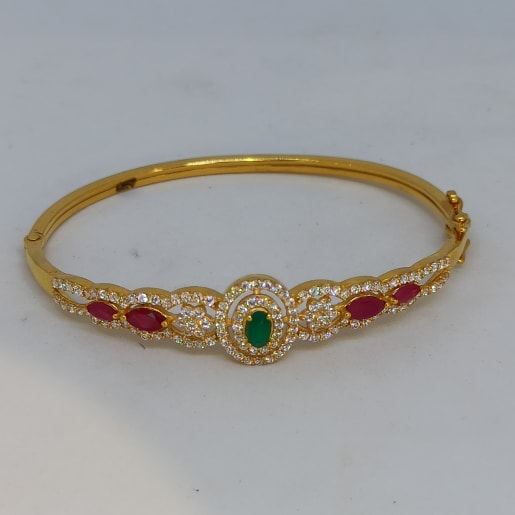 Emrald Gold Kada For Women