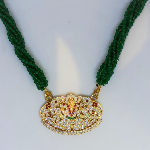 Green Mala Lakshmi Necklace