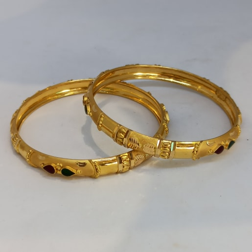 Gold Pear Bangle
