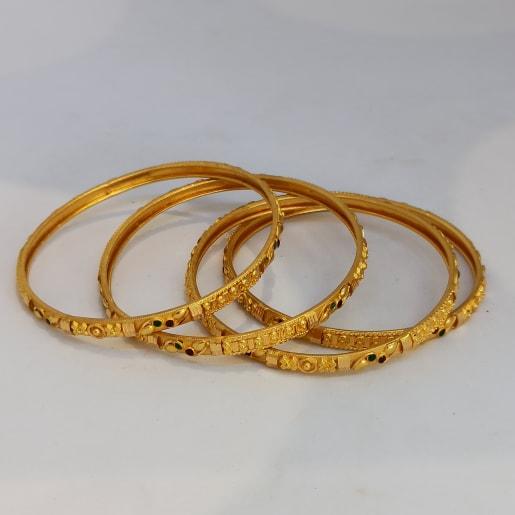 Gold Kemp Stone Bangle