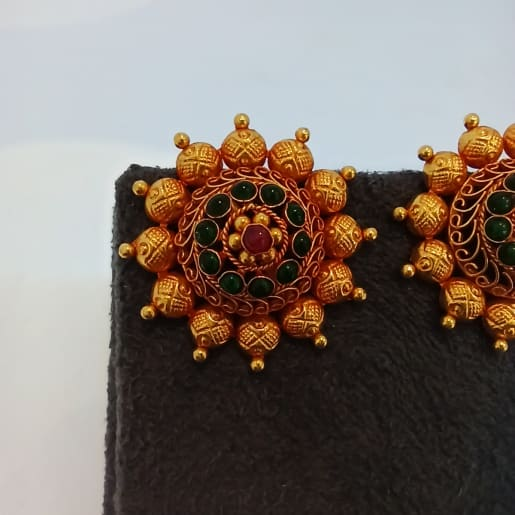 Red Stone Surya Earrings