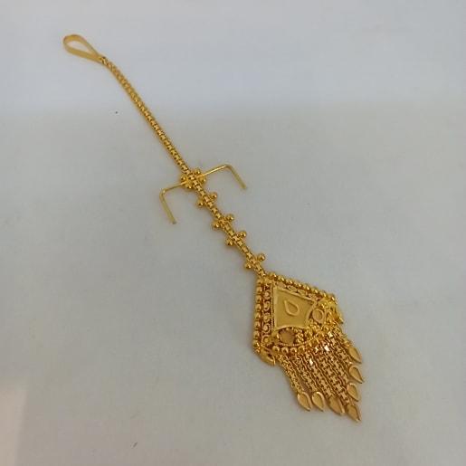 Plain Gold Maang Tikka