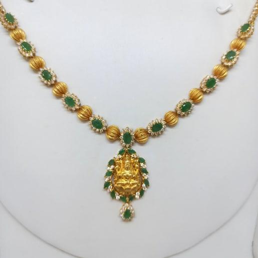 Lakshmi Emerald Neckalce