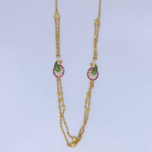 Peacock Cz Antique Necklace