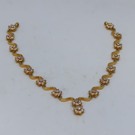 Wave Cz Necklace