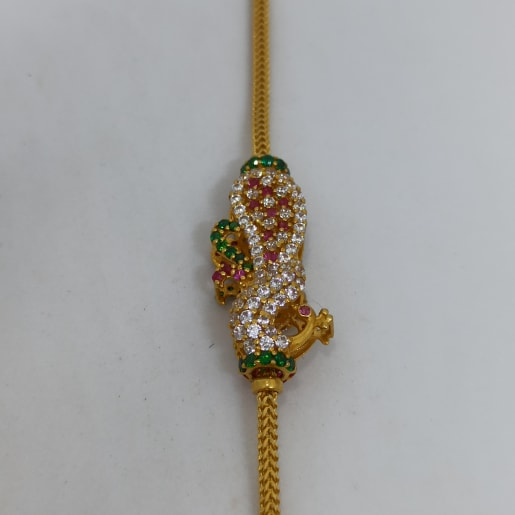 Peacock Snake Cz Chain