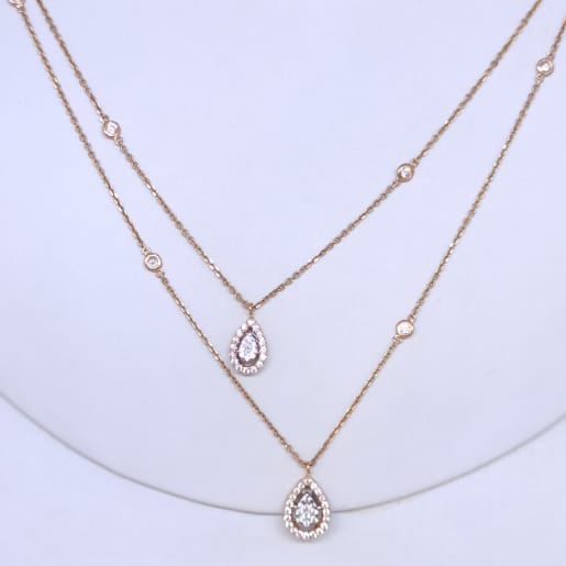 Double Chain Cz Necklace