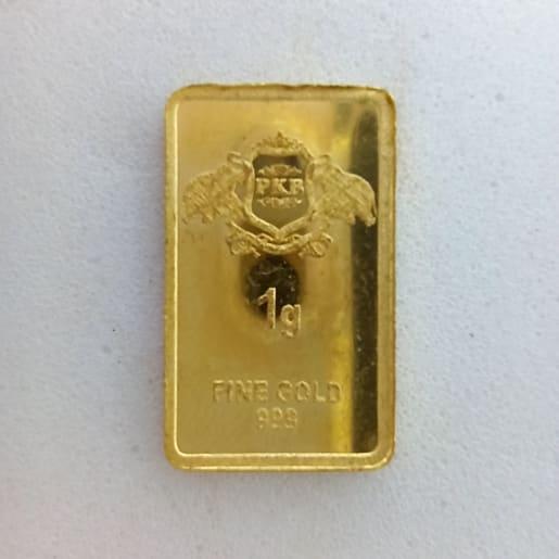 1 Grams Semi Square Coin