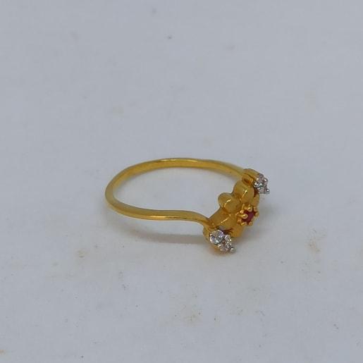 Flower Cz Ring For Her
