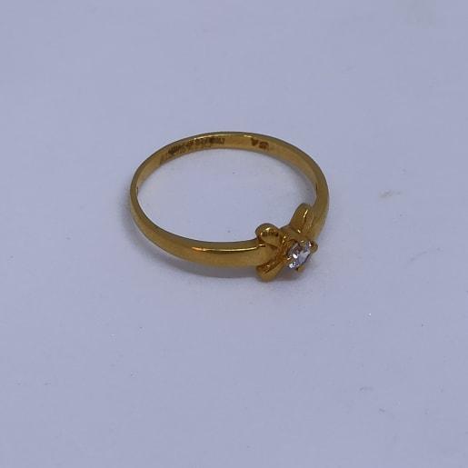 Four Leaf Cz Ring