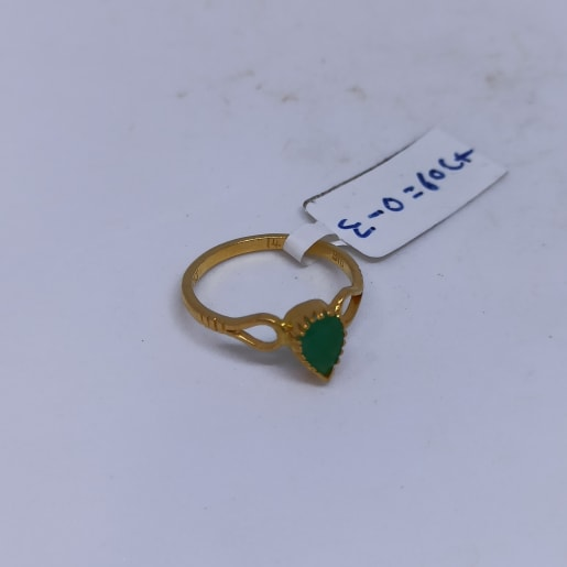Pear Emrald Gold Ring
