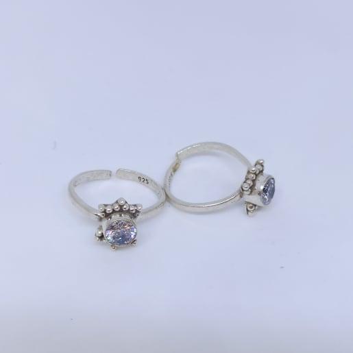 Stone Toe Ring