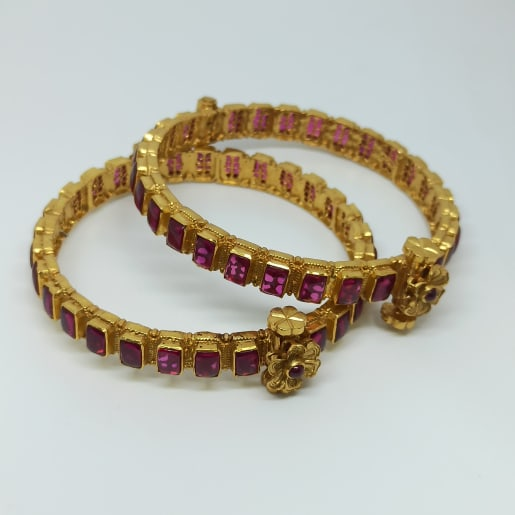Asha Antique Stone Bangles