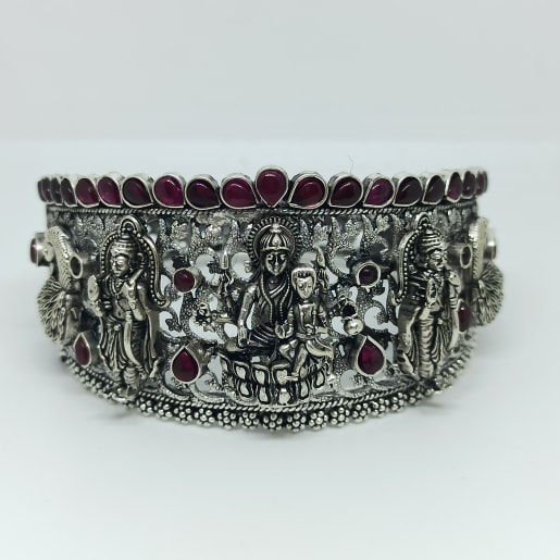 Sri Lakshmi Antique Silver Kada